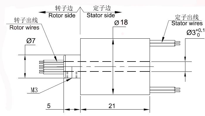 BTH0318小孔径滑环图纸