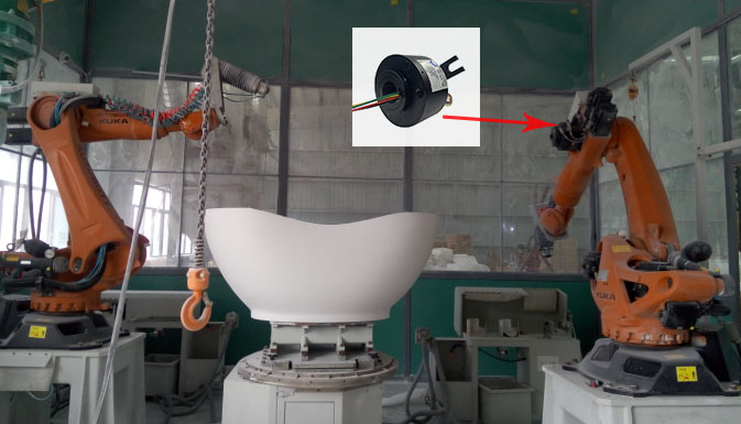 打磨机器人导电滑环定制