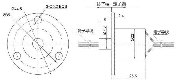 外径22mm12路帽式滑环