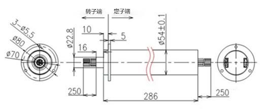 BTC054-12402低力矩帽式滑环内部结构图