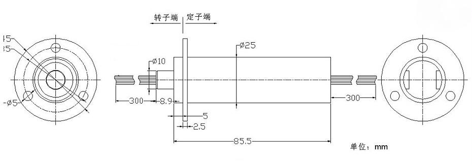 BTC025-46多路数帽型导电滑环定制内部结构图