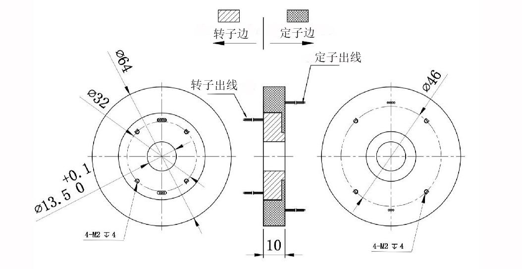 农业包装设备导电滑环图纸