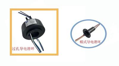 过孔导电滑环和帽式导电滑环有什么区别?