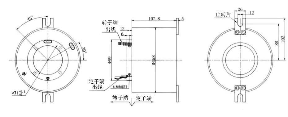 BTH71158以太网信号滑环结构图纸