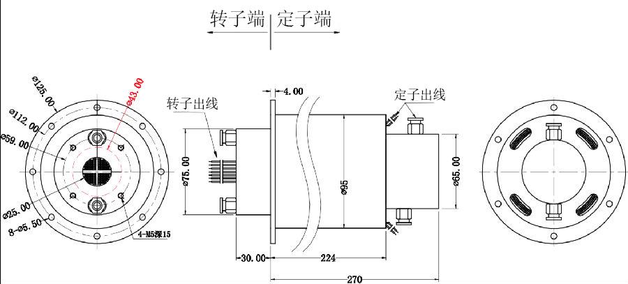 气体电力传输滑环定制图