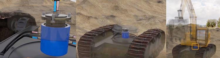 挖掘机气电液滑环