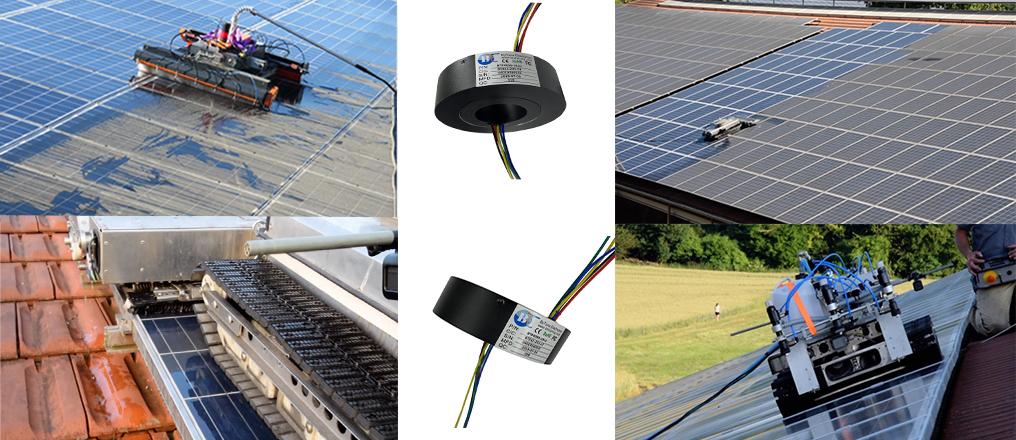 太阳能电池板清洁机器人导电滑环
