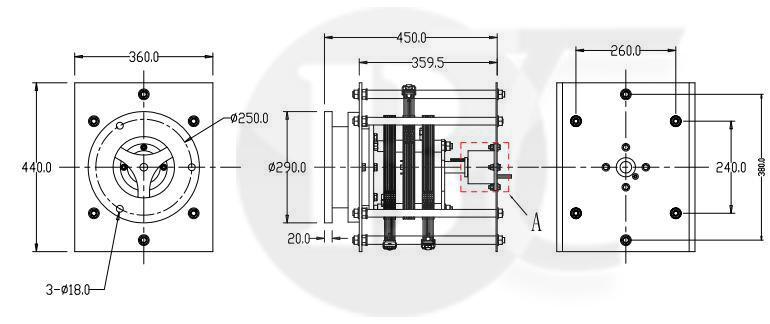 重工业大电流滑环定制内部结图纸