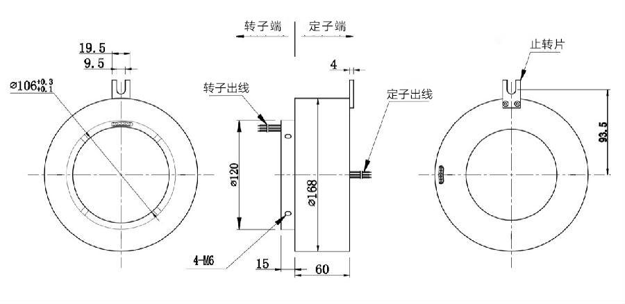 BTH106168-0605过孔滑环内部结构图