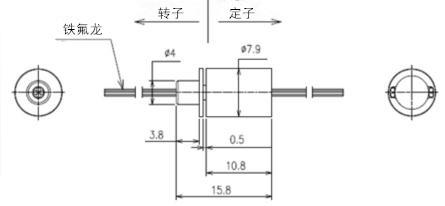 BTC008微型帽式滑环内部结构图纸