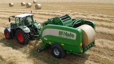 比尔德气液电组合滑环应用在农业机械--圆捆机案例