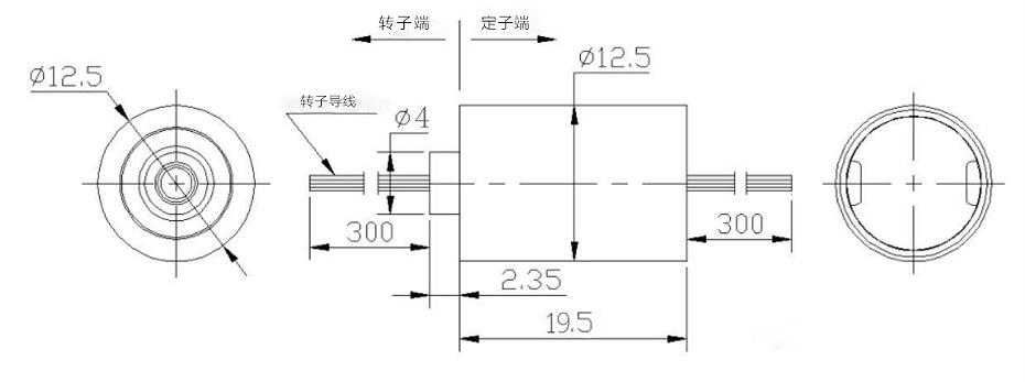 BTC012帽式集电环滑环内部结构