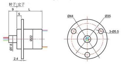 BTC022帽式滑环图纸