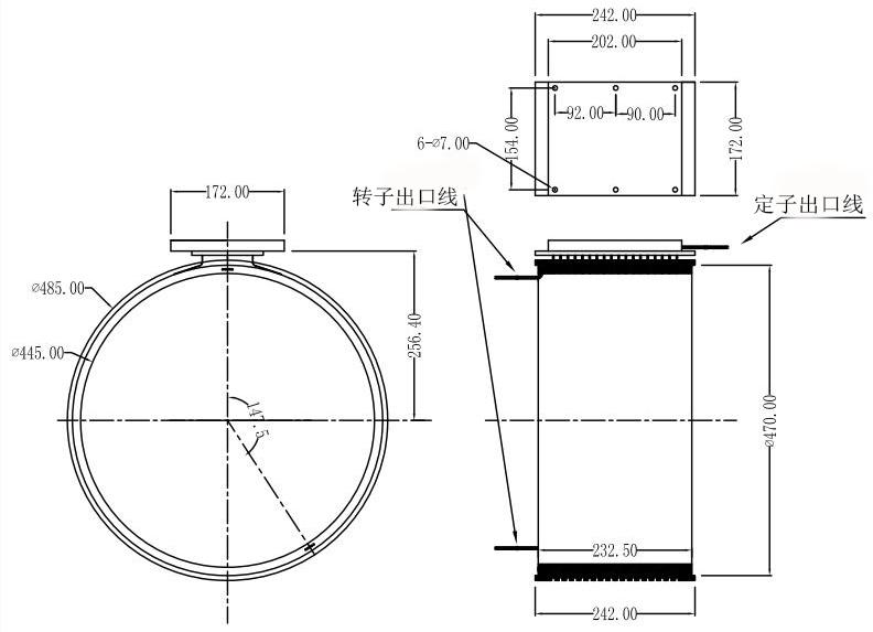 分离式导电滑环图纸
