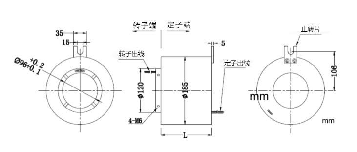 BTH96185过孔导电滑环内部图