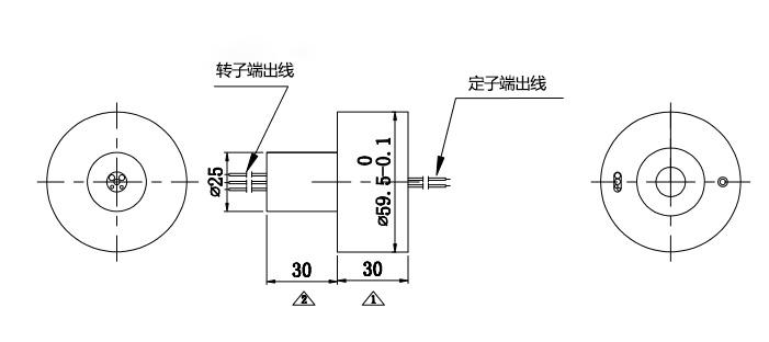HD视频信号帽式滑环内部结构图